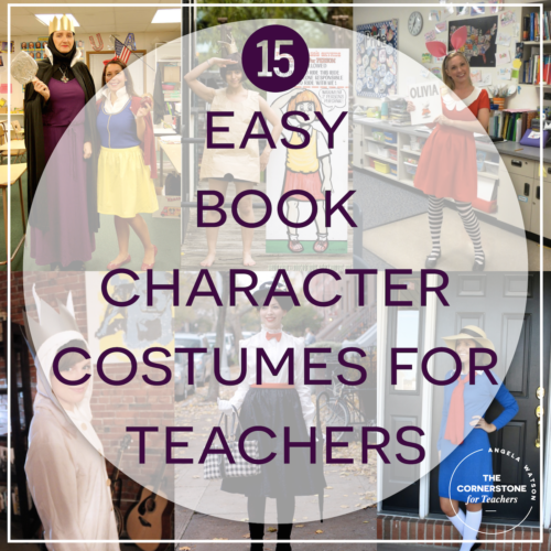 We held a Book Character Parade around the school to show off our costumes and it was so much fun to see what all the kids wore! & 15 easy book character costumes for teachers